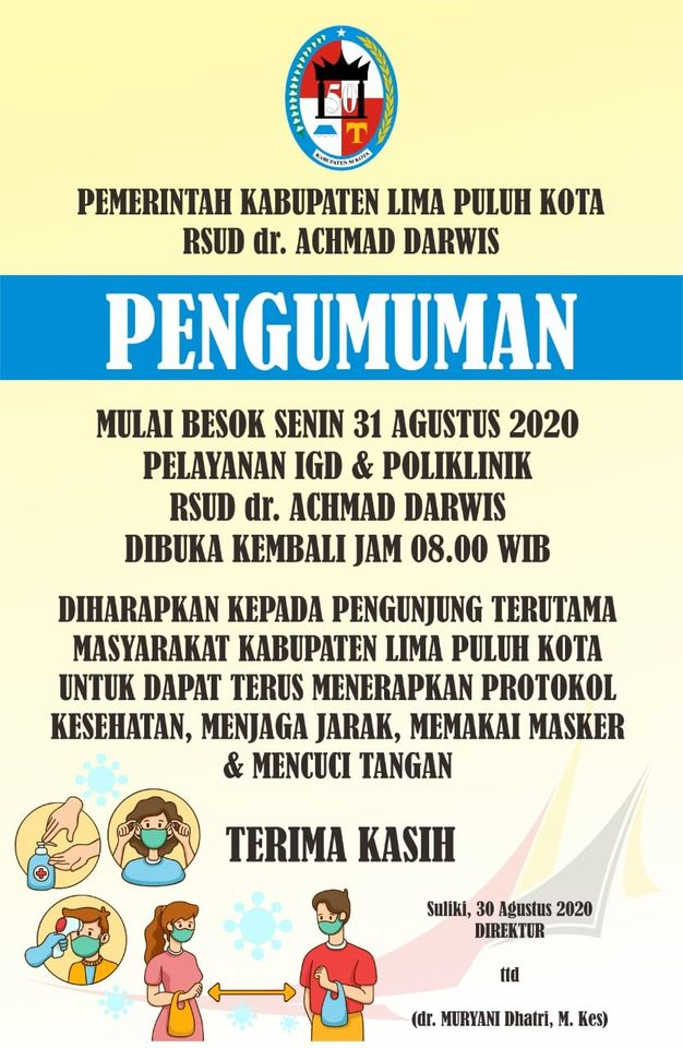 PELAYANAN RSUD dr. ACHMAD DARWIS